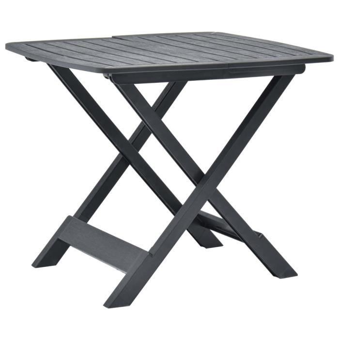 Table de Jardin Pliable - Table de reception pliante fête Buffet Jardin Camping Party- Anthracite 79x72x70 cm Plastique