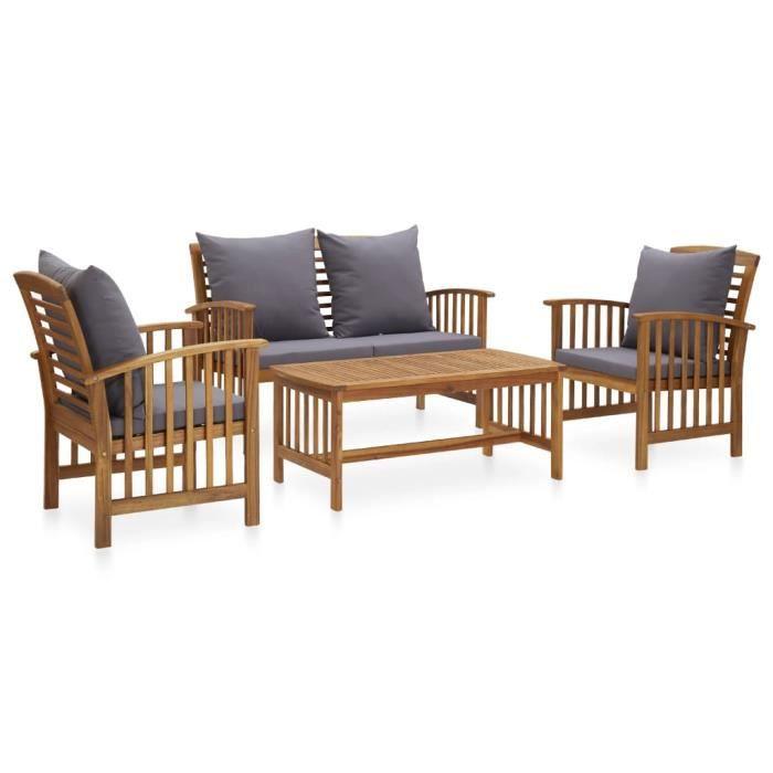 🐣🐣Magnifique- Salon de jardin 4 personnes - Ensemble repas de jardin - Ensemble Table et Chaises ENSEMBLE CANAPE FAUTEUIL ET8718