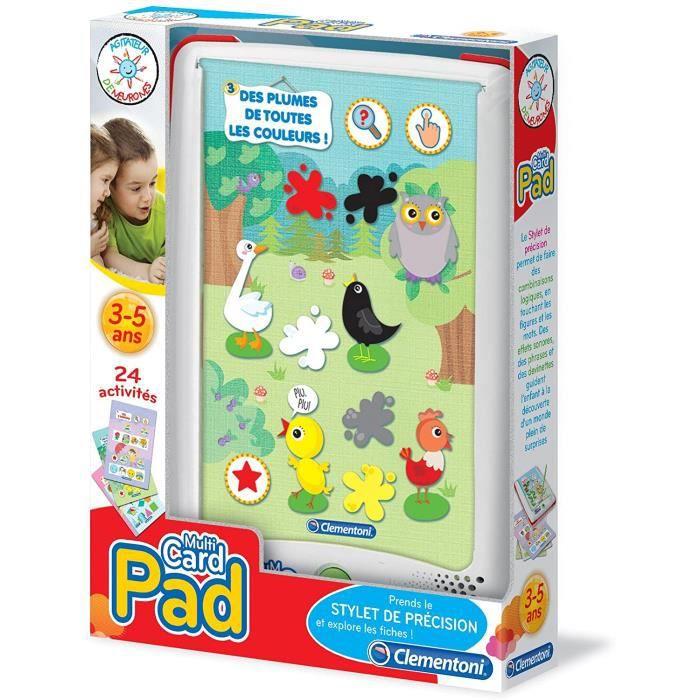Tablettes tactiles et accessoires pour enfants Clementoni - 52059.6 - Jeu Éducatif Électronique - Pad Multicartes 280047