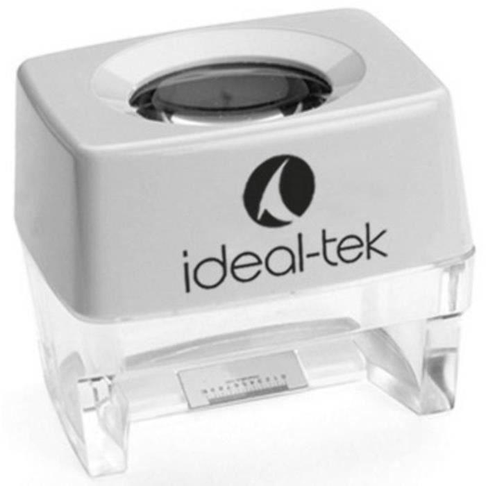 Ideal Tek 818-01 Loupe sur pied Facteur de grossissement: 8 x Taille de la lentille: (Ø) 24 mm blanc