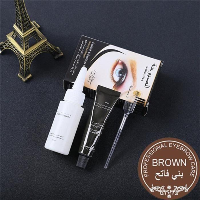 Série professionnelle henné cils sourcil teinture Gel cils brun noir couleur teinte crème Kit, 15 minutes rapide teinte *KI3067