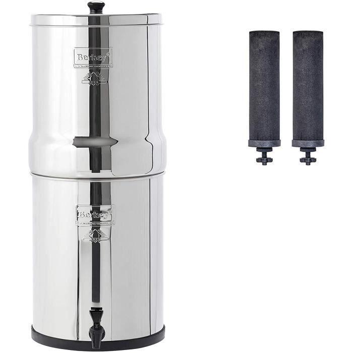 Royal Berkey RB4x2-BB Système de filtration d'eau avec 2 éléments noirs, par Berkey