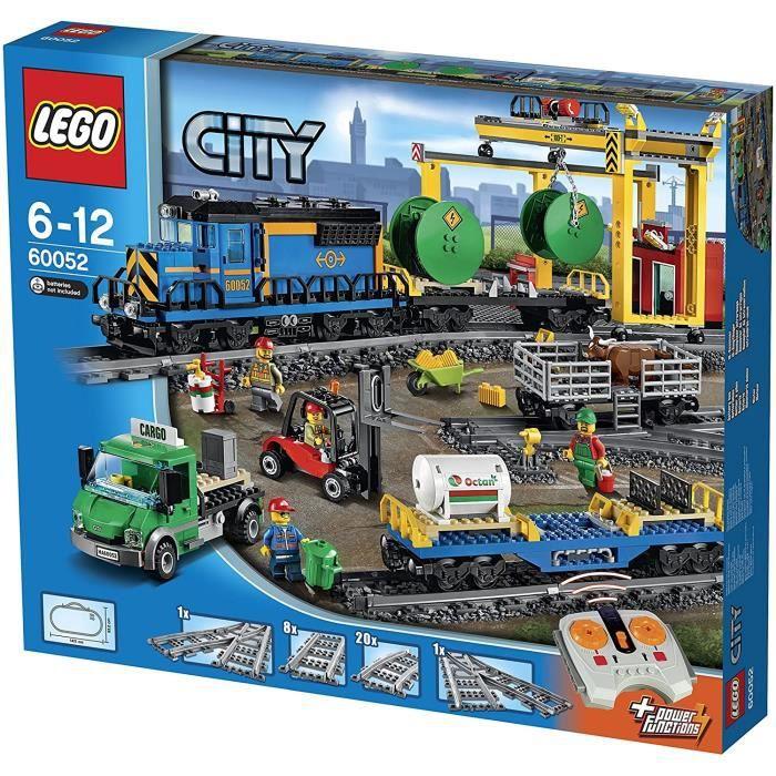 Jeux de construction LEGO City - Le train de marchandises - 60052 - Jeu de Construction 51857