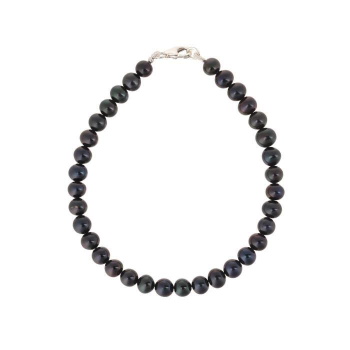 PERLINEA Bracelet Perles de Cutlure et Argent 925° Femme