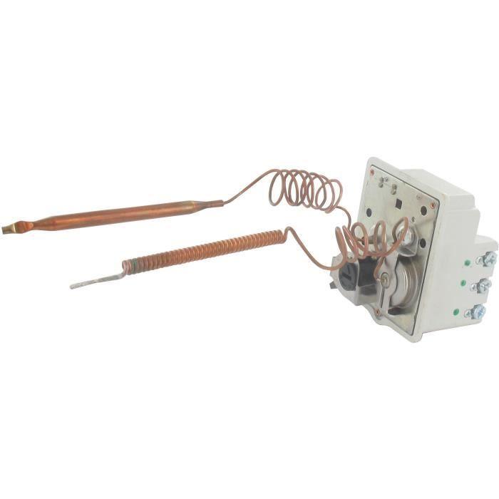 Thermostat mono-bulbe tripolaire à régulation 40/65°C et sécurité 90°C