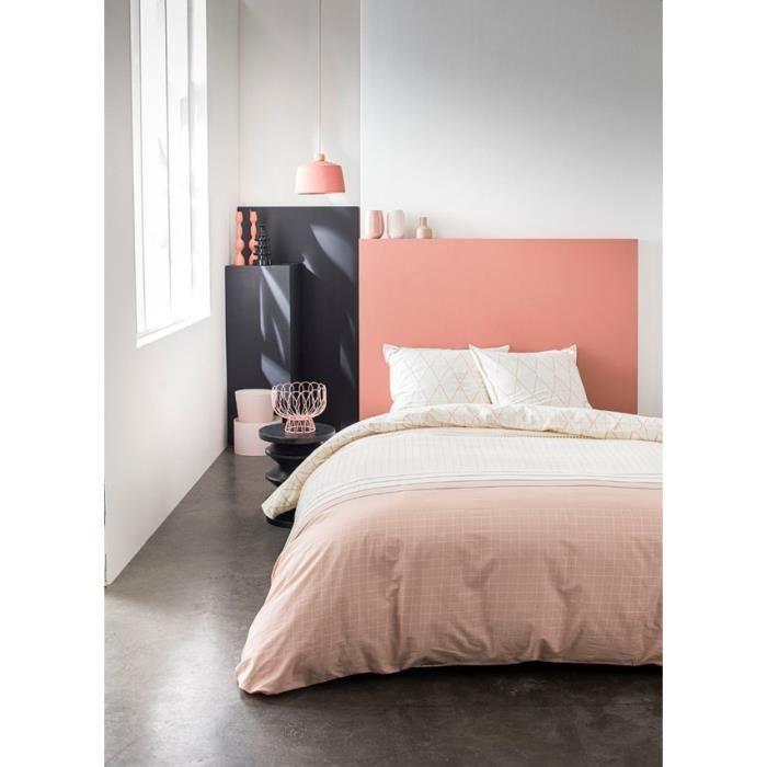 TODAY Parure de couette 220x240 + 2 taies d'oreiller 65x65 cm - 100% Coton - Blanc Graphique SUNSHINE 4.22 TODAY