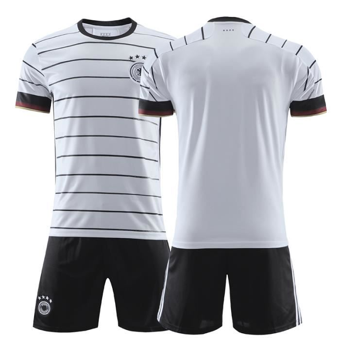 Allemagne Maillot Domicile EURO 2020 Maillot de Foot Short Football Soccer Pas Cher Maillot Equipe de Germany pour Homme