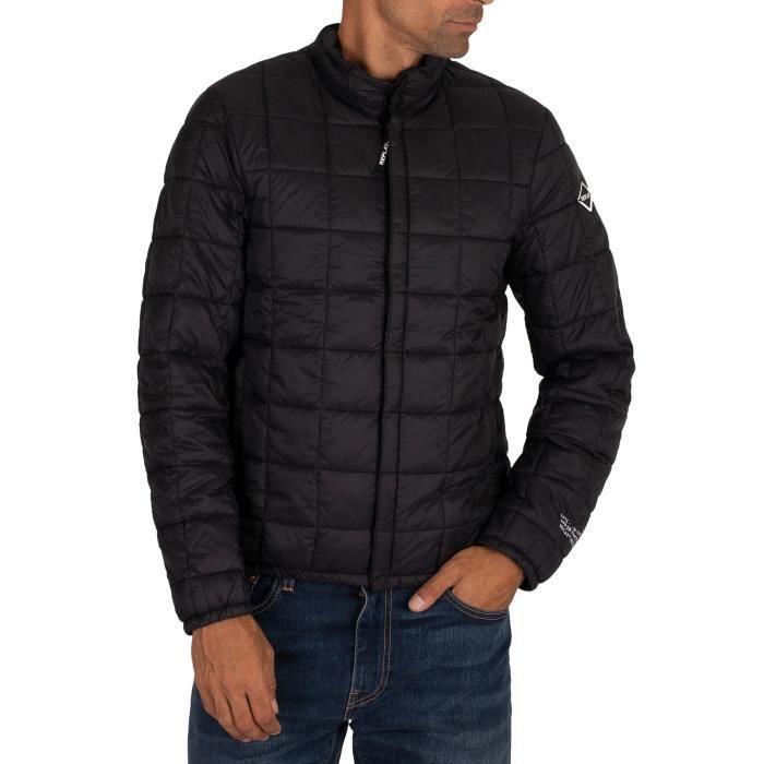 Replay Veste Puffer Jacket, Noir, Homme