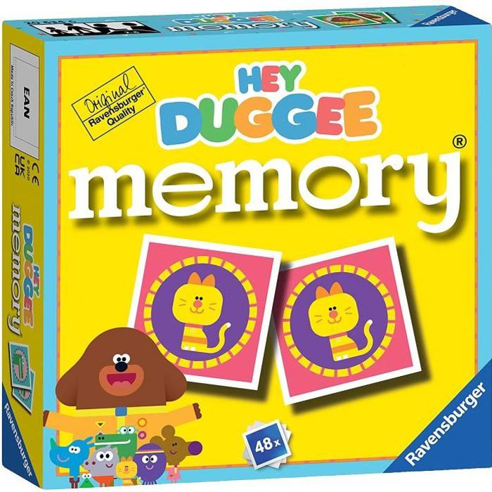 Ravensburger 20634 Hey Duggee-Mini jeu de mémoire pour enfants de 3 ans et plus