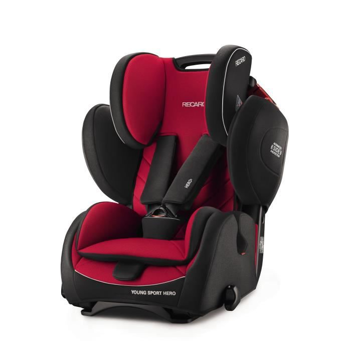 RECARO Siège Auto Young Sport HERO - Groupe 1/2/3 - Racing Red