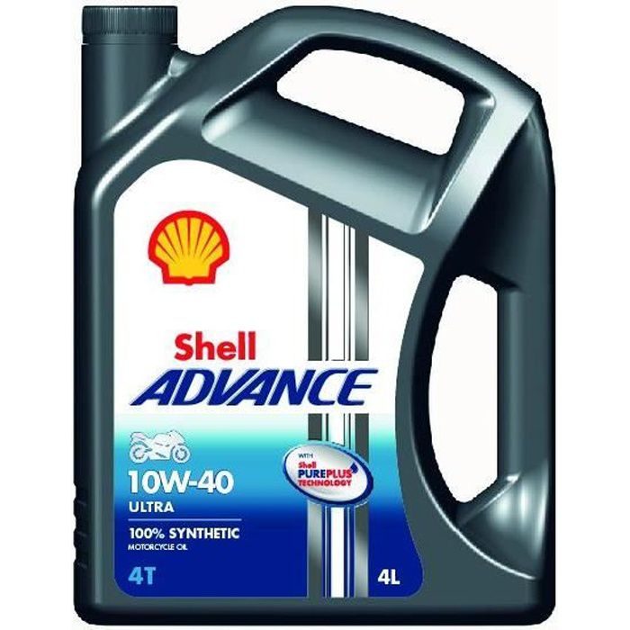 Shell Advance ultra 4T 10W40 4L Huile Moteur Moto
