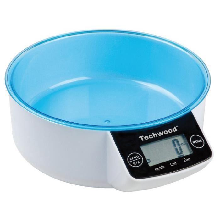 TECHWOOD TPA-855 Balance de cuisine - Bleu