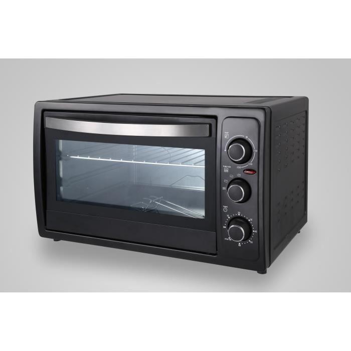 THOMSON THEO46346 Mini four 38 L - convection naturelle, gril, rôtissoire, lèche frite, chaleur tournante - Puissance 2000W - Noir