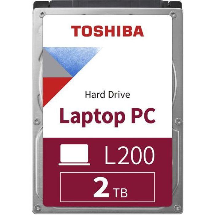 TOSHIBA - Disque dur Interne - L200 - 2To - 5400 tr/min - 2.5- Boite Retail (HDWL120EZSTA)