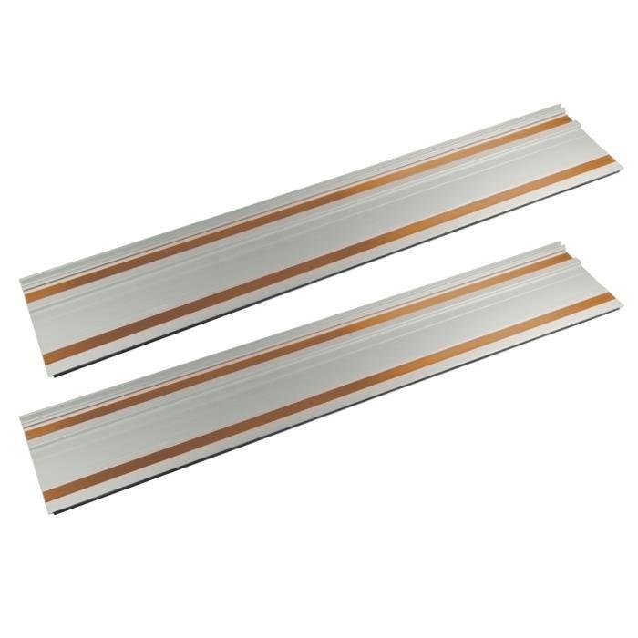 TRITON Kit de 2 rails 70 cm et raccords - Compatible avec la scie circulaire plongeante Triton TTS1400 (950638)