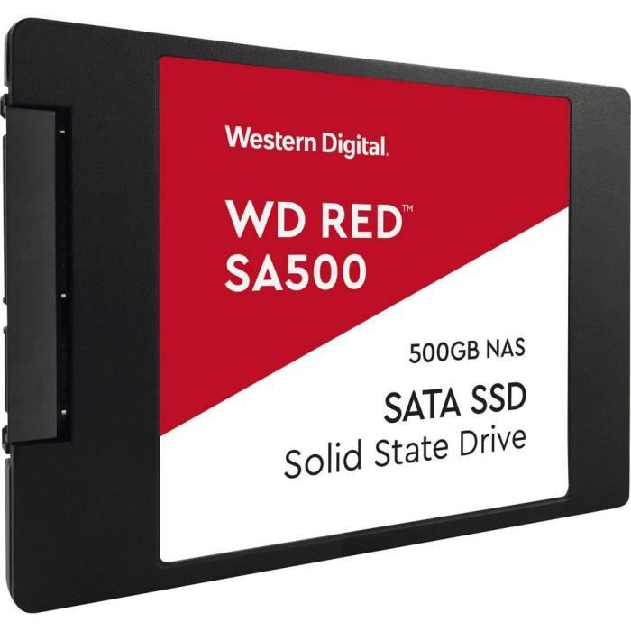 WD Red™ - Disque SSD Interne Nas - SA500 - 500 Go - 2.5- (WDS500G1R0A)