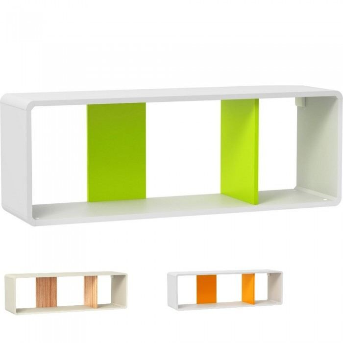 Etag re murale design pop color xl couleur oran achat vente meuble tag - Etagere murale cdiscount ...