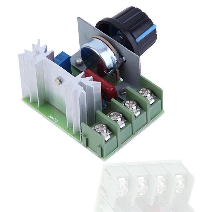 2pcs 2000 W 220 V SCR électrique Régulateur de tension Moteur Vitesse Contrôle Régulateur
