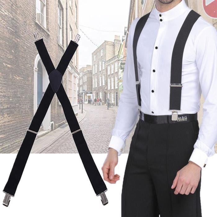 Black y dos élastique porte-jarretelles Sangle Pantalon Bretelles réglable pour Lady AD