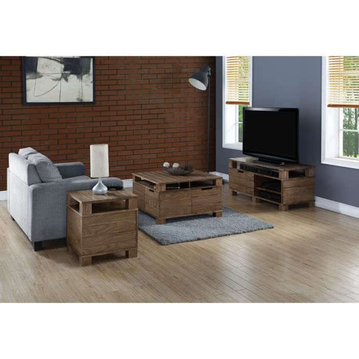 meuble tv en bois massif achat vente meuble tv meuble. Black Bedroom Furniture Sets. Home Design Ideas