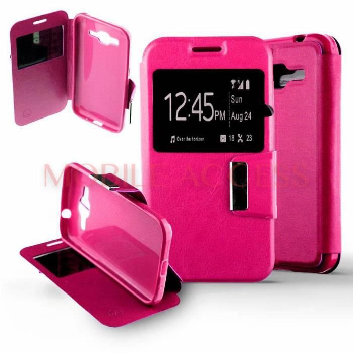 etui housse coque htc desire 510 rose avec fenetre achat. Black Bedroom Furniture Sets. Home Design Ideas