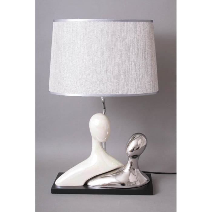 Lampe design sur pied couple gm polyr sine achat for Lampe a pied design