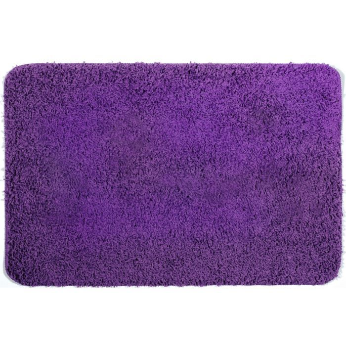 tapis de bain shaggy violet achat vente tapis de bain. Black Bedroom Furniture Sets. Home Design Ideas