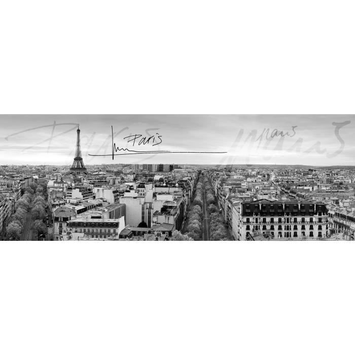 paris tableau d co sur toile 140x50cm achat vente tableau toile toile polyester chassis. Black Bedroom Furniture Sets. Home Design Ideas