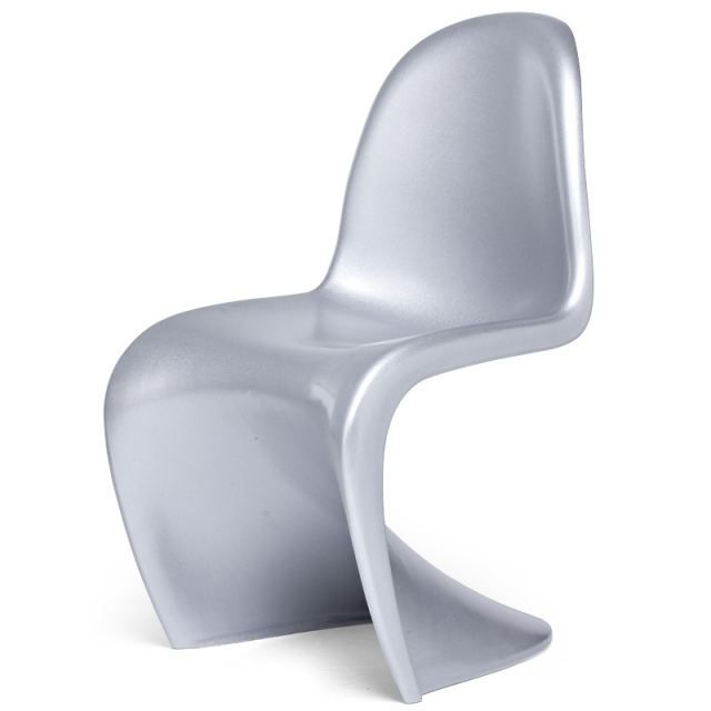 4 chaises design wave silver achat vente chaise abs for Les chaises design