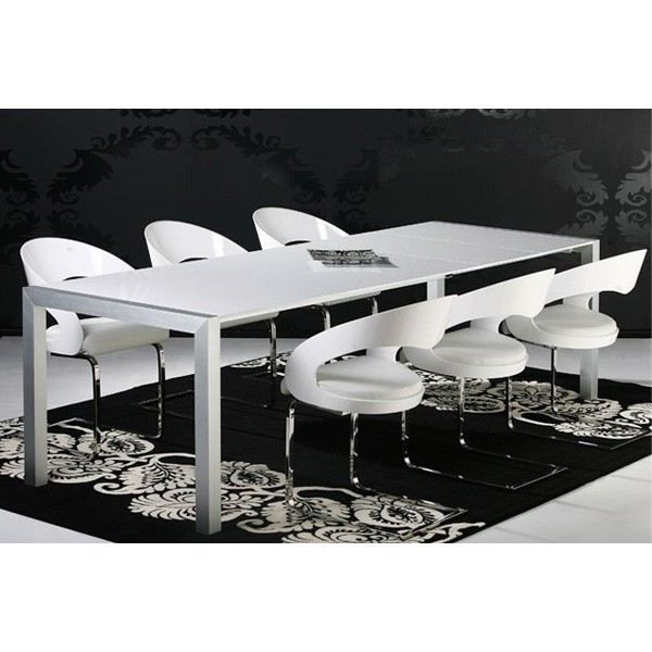 Table extensible design merill blanc achat vente - Table a manger extensible design ...