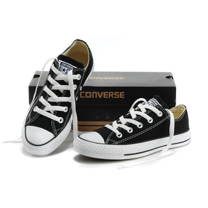 Mixte Basket basse Converse chuck taylor all star ox noir ...