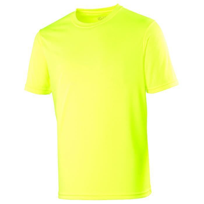04a8a56f2f265 T-shirt homme Sport Jaune Fluo marque Awdis Jaune Fluo - Achat ...