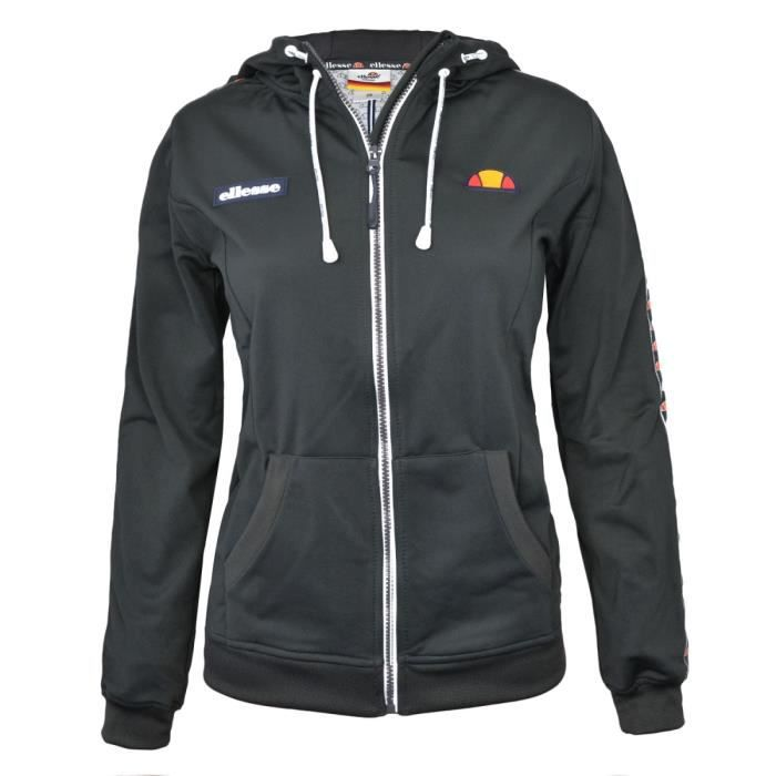 Sweat Zippé SWS Capuche Anthracite Chiné W e18 Ellesse