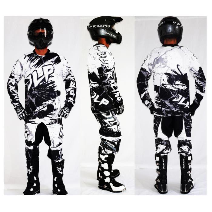 Tenue Fluo Camouflage Ensemble Maillot Pantalon Gants Moto Cross Quad VTT BMX JLP RACING Taille 28 US//XS 34-L