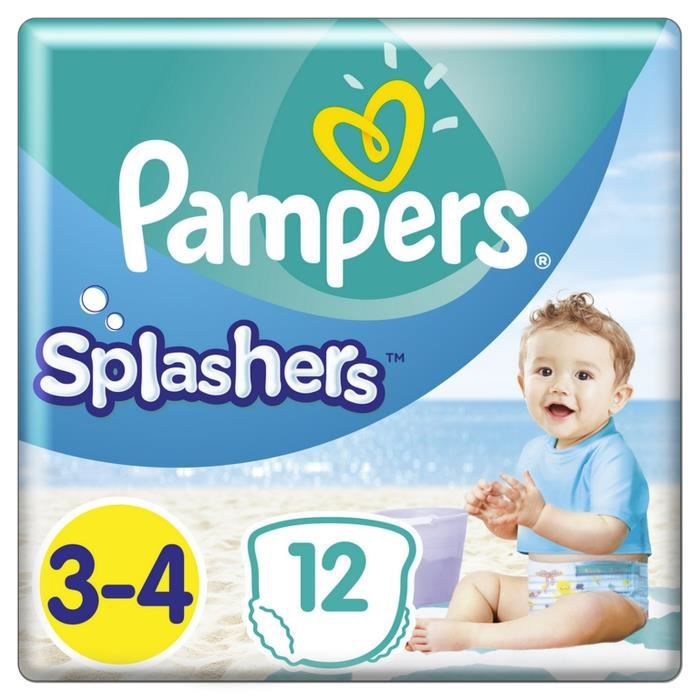 COUCHE Pampers Splashers Taille 3-4, 6-11 kg, 12 Couches-