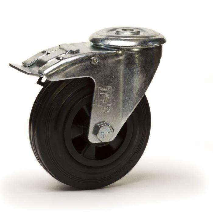 """3/"""" fixe PVC Trolley Roulette Roue Roulements à Rouleaux 100 kg charge par roue Lot de 2"""