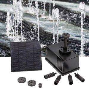 FONTAINE DE JARDIN Kit de pompe de fontaine solaire Pompe à eau à pan