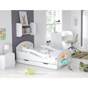 LIT COMPLET LIT ENFANT Dreams 70x160cm, AVEC MATELAS & BARRE D
