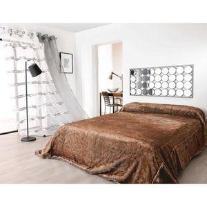 125 x 150 cm Single Dreamscene Luxueux Couvre-lit//Plaid Doux en Polaire Fausse Fourrure de Vison 125/x 150/cm Polyester Red Noir