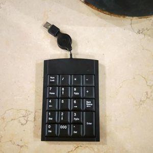 CLAVIER D'ORDINATEUR Clavier numérique USB rétractable Pavé numérique à
