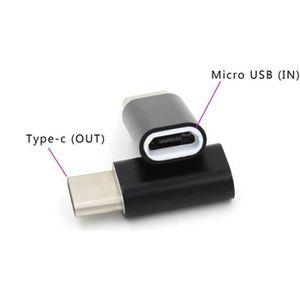 ADAPTATEUR AUDIO-VIDÉO  VSHOP ® Adaptateur USB type C male vers micro USB