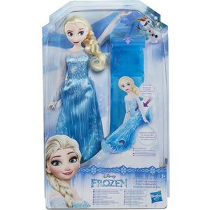 POUPÉE Disney Reine des Neiges Poupée sur son traîneau