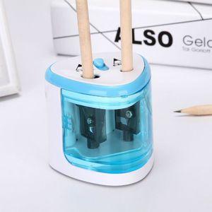 Utile Stationery automatique des accessoires Taille-crayon /électrique /à piles Deux trous Taille-crayons Fournitures de bureau et scolaires