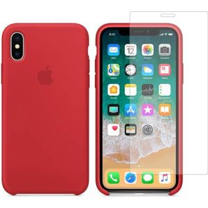 COQUE - BUMPER Apple Coque en silicone iPhone X/Xs (5.8'') - roug