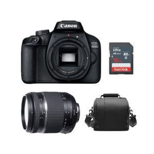 APPAREIL PHOTO RÉFLEX CANON EOS 4000D Black + TAMRON 18-270mm F3.5 -6.3