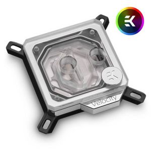 VENTILATION  EK Water Blocks EK-Velocity D-RGB - Nickel + Plexi