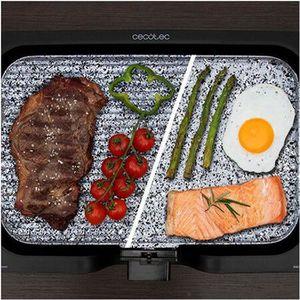 PLANCHA DE TABLE Grill avec plancha en pierre reversible et cable a