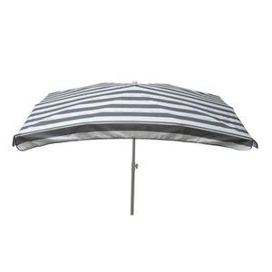 PARASOL Parasol droit ovale 200 x 300 cm rayé CANCALE - Gr
