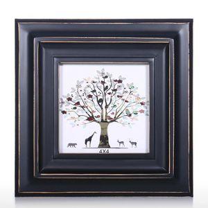 CADRE PHOTO Cadre photo en bois noir pour décoration de table