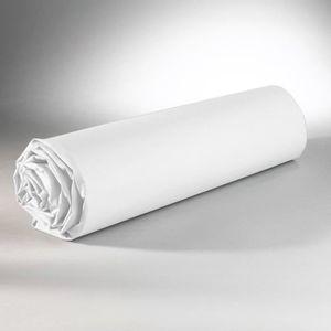 DRAP HOUSSE Drap Housse 180 x 200 cm 100% coton - Blanc
